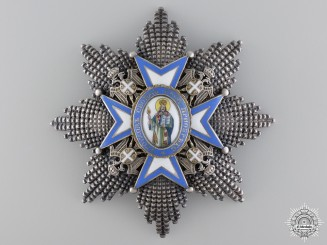 A Serbian Order of St. Sava; Grand Cross Star