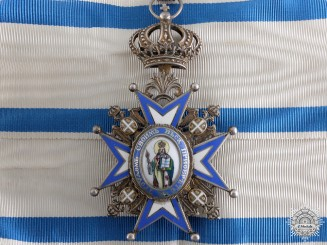 A Serbian Order of St.Sava; Third Class Neck Badge