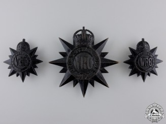 Canada. A Set of 3rd Regiment Victoria Rifles of Canada Badges 1904-1920