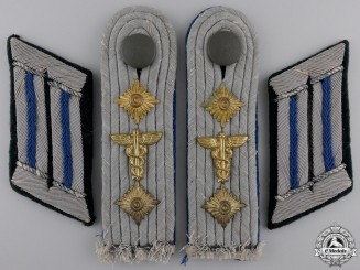 A Set of Army Medical Hauptmann Boards & Collar Tabs