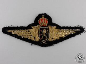 A Set of Belgian Bullion Pilot's Wings