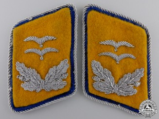 A Set of Luftwaffe Reserve Oberleutnant's Collar Tabs