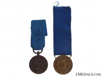 A Set of Miniature Al Valore Militare Medals