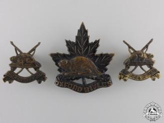 A Set of Oxford Rifles Insignia