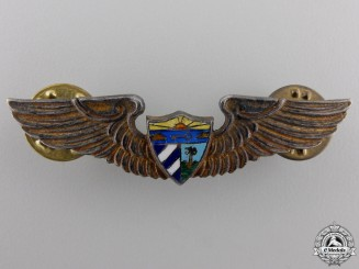 A Set of Second War Cuban Air Force Pilot's Wings
