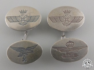 A Set of Spanish Civil War Air Force Cufflinks