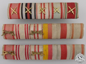 A Set of Three Austrian Ribbon Bars