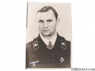 A Signed Panzer KC Winner Photograph