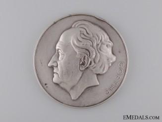 A Silver Goethe Award Medal to Robert Holtzmann; Second Model