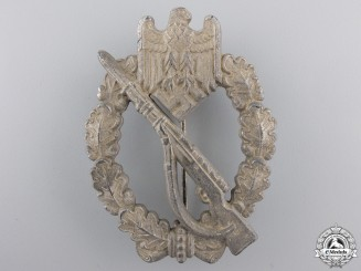 A Silver Grade Infantry Badge; Field Repair