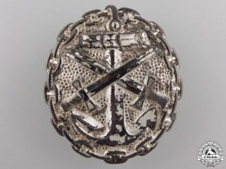 A Silver Grade Naval Wound Badge