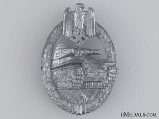 A Silver Grade Tank Badge by Aurich