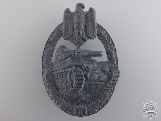 A Silver Grade Tank Badge by Hermann Aurich