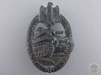A Silver Grade Tank Badge by Rudolf Karneth & Söhne
