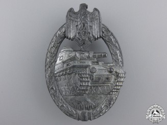 A Silver Grade Tank Assault Badge by Steinhauer & Luck
