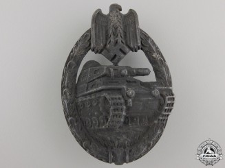 A Silver Grade Tank Assault Badge by Assmann