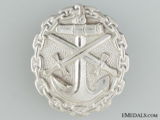 A Mint Silver Grade First War German Naval Wound Badge