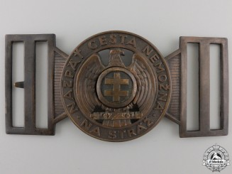A Slovakian Hlinka Guard Leader's Belt Buckle