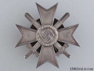 A Solid Silver War Merit Cross 1st Class by Zimmermann