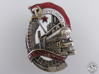 A Soviet Honoured Railway Employee Badge