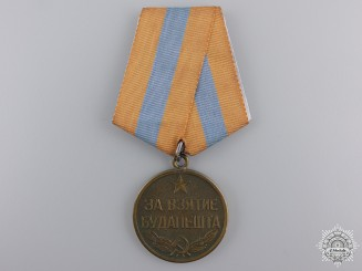 A Soviet Medal for the Capture of Budapest;  Variation 1