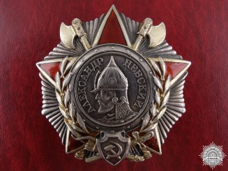 A Soviet Order of Alexander Nevsky for Bravery in Finland 1945  Consignment 17