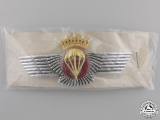 A Spanish Air Force Parachutist's Qualification Badge