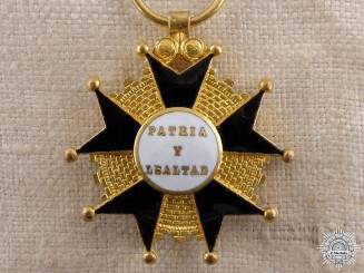 A Spanish Cross of Merit to the Homeland