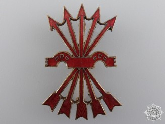 A Spanish Falange Officer's Cap Badge
