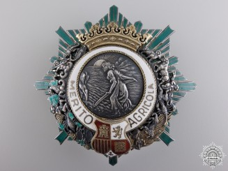 Spain, Kingdom. An Order of Agricultural Merit, Breast Star, c.1930