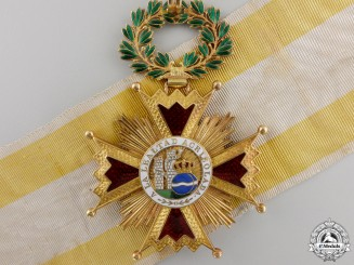 A Spanish Order of Isabella the Catholic in Gold; Commander