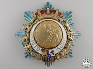 A Spanish Order for Agricultural Merit; Grand Cross Breast Star