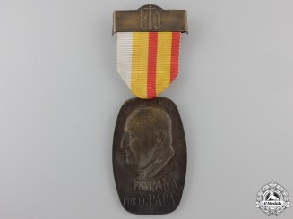 Spain, Fascist State. A United Pilgrimage to Pope John XXIII in Rome Medal, c.1961