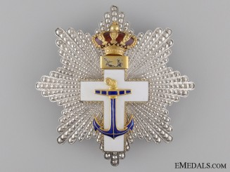 A Spansih Order of Naval Merit with White Distinction; Grand Cross Star c.1920
