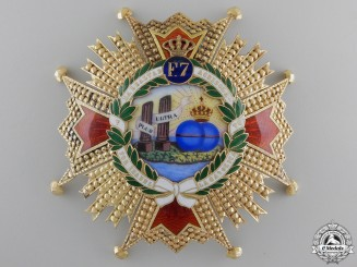 A Superb Order of Isabella the Catholic in Gold; Grand Cross
