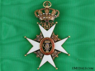 A Swedish Order of Vasa in Gold; Grand Cross