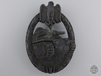 A Tank Assault Badge; Bronze Grade