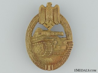 A Tank Badge; Bronze Grade