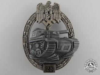 A Tank Badge Grade II; Silver Grade by JFS
