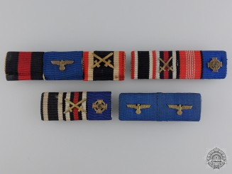 A Third Reich Group of Four Ribbon Bars