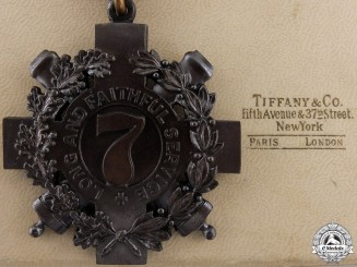 A Tiffany Made New York 7th Regiment Long and Faithful Service Medal