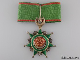 A Turkish Order of Osmania (Osmanli); Commander's Neck Badge