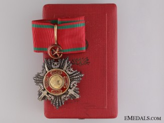 A Turkish Order of Medjidie with Swords; Commanders Badge