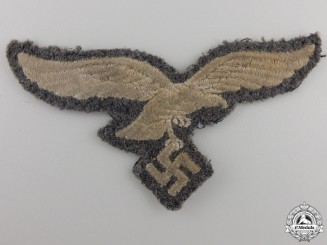 A Uniform Removed Luftwaffe NCO Breast Eagle