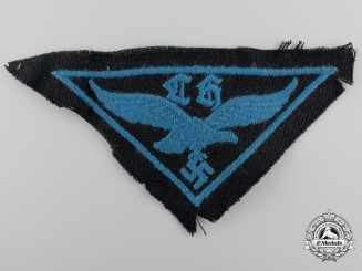 A Uniform Removed HJ Flak Helper's Cloth Badge