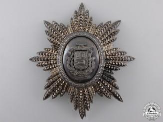 Venezuela, Republic. An Order of the Bust of Bolivar; Grand Cross Star, by Lemaitre, Paris, c.1900