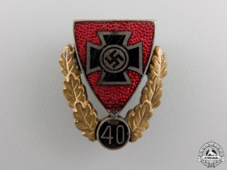 A Veterans Association 40 Year Membership Pin