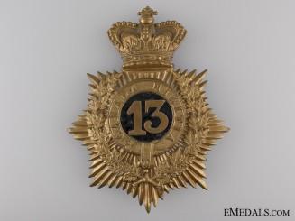 A Victorian 13th Canadian Militia (Hamilton, Ont) Helmet Plate