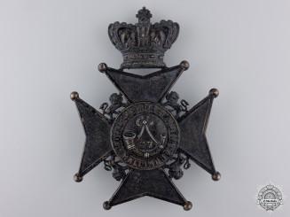 A Victorian 37th Haldimand Battalion Helmet Plate
