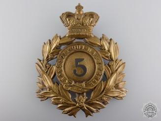 A Victorian 5th Regiment of Foot Helmet Plate